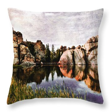 Sylvan Lake - Black Hills Throw Pillow