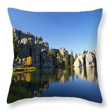 Sylvan Lake, Custer South Dakota Throw Pillow by Karen Cade