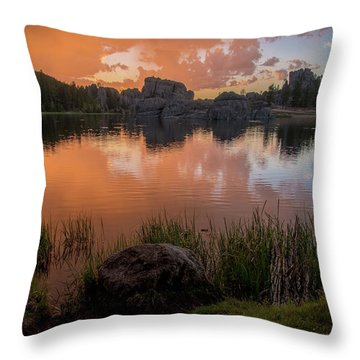 Throw Pillow featuring the photograph Sylvan Lake by Gary Lengyel