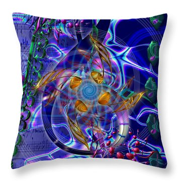 Throw Pillow featuring the digital art Symagery 20 by Kenneth Armand Johnson