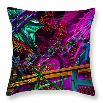 Throw Pillow featuring the digital art Symagery 21 by Kenneth Armand Johnson