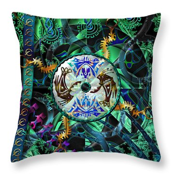 Throw Pillow featuring the digital art Symagery 26 by Kenneth Armand Johnson