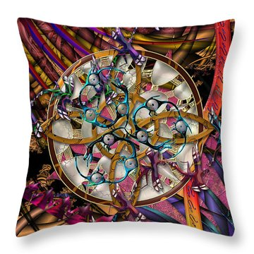 Throw Pillow featuring the digital art Symagery 28 by Kenneth Armand Johnson