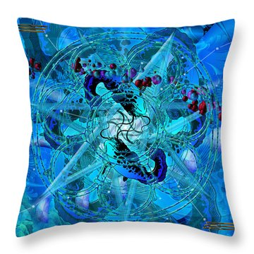 Symagery 34 Throw Pillow by Kenneth Armand Johnson