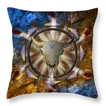 Throw Pillow featuring the digital art Symagery 36 by Kenneth Armand Johnson