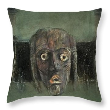 Symbol Mask Painting - 05 Throw Pillow