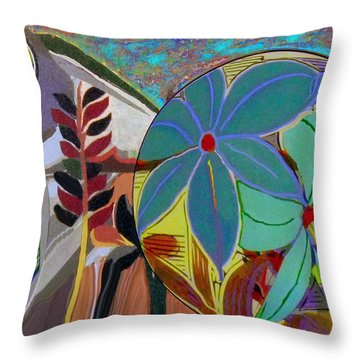 Symbol Of A Flower Throw Pillow