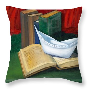 Symbol Of A Proud Profession V Throw Pillow by Marlyn Boyd