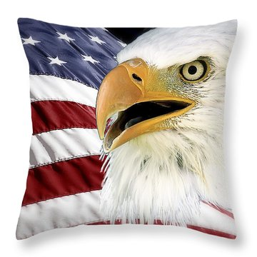 Symbol Of America Throw Pillow by Teresa Zieba