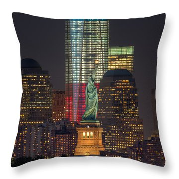 Symbols Of Freedom II Throw Pillow by Clarence Holmes