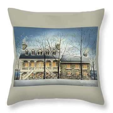 Symmes' Inn Throw Pillow by Catherine Holman