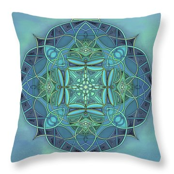 Symmetrical #12 Throw Pillow by Marion Sipe
