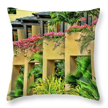 Symmetry  Throw Pillow by Karen Lewis