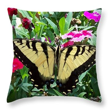 Throw Pillow featuring the photograph Symmetry by Sandi OReilly