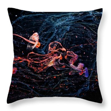 Symphony - Abstract Photography - Paint Pouring Throw Pillow