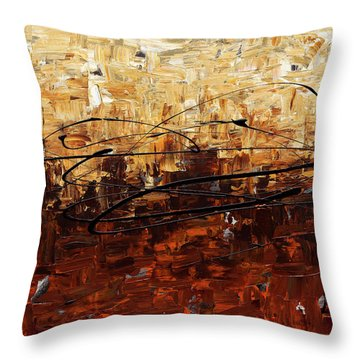 Throw Pillow featuring the painting Symphony by Carmen Guedez