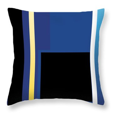 Symphony In Blue - Movement 2 - 3 Throw Pillow