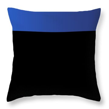 Symphony In Blue - Movement 3 - 2 Throw Pillow