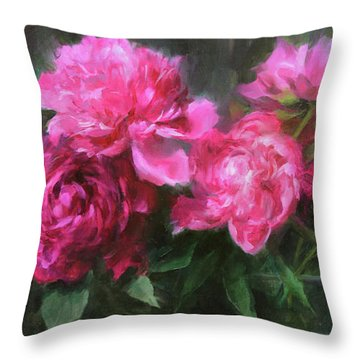 Symphony In Pink Throw Pillow