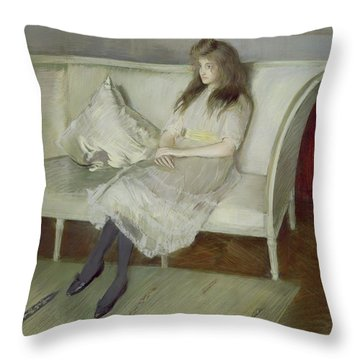 Symphony In White Throw Pillow by Paul Cesar Helleu