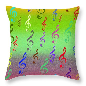 Symphony Of Colors Throw Pillow