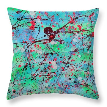 Symphony Throw Pillow by Patrick Morgan