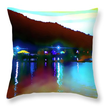 Symphony River Throw Pillow