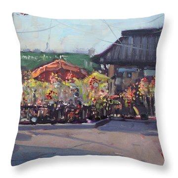 Symposium Cafe Restaurant - Georgetown Throw Pillow