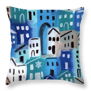 Synagogue- City Stories Throw Pillow