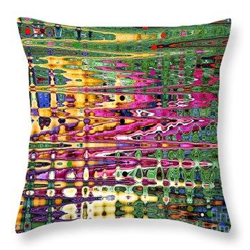 Synapse Throw Pillow by Diane E Berry