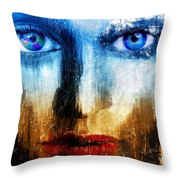 Throw Pillow featuring the painting Synaptic Awakening by Mark Taylor