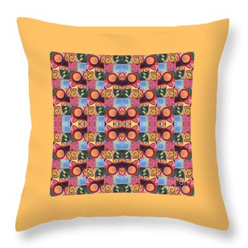 Synchronicity - A  T J O D 1 And 9 Arrangement Throw Pillow
