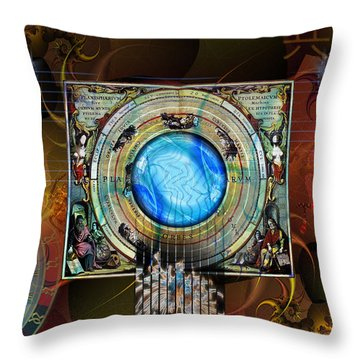 Throw Pillow featuring the digital art Synchronicity by Kenneth Armand Johnson