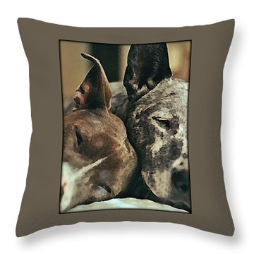 Synchronized Dreaming Throw Pillow