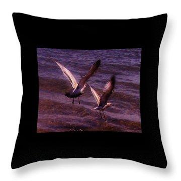 Synchronized Landing Throw Pillow