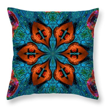 Synchronized Swimmers Throw Pillow