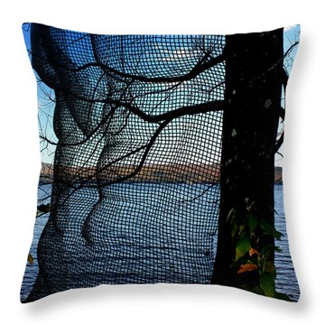 Synchronizing Body And Nature  Throw Pillow by Mark Ashkenazi