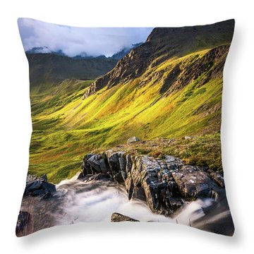 Throw Pillow featuring the photograph Synclavier Foothills by Tim Newton