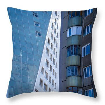 Throw Pillow featuring the photograph Synergy Between Old And New Apartments by John Williams