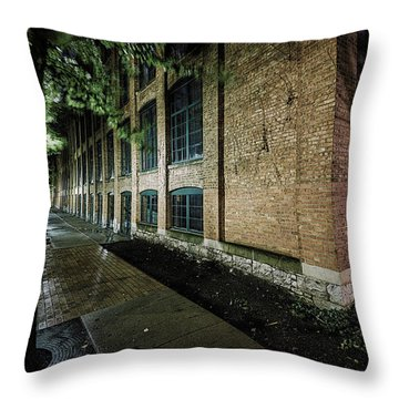 Throw Pillow featuring the photograph Syracuse Sidewalks by Everet Regal