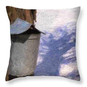 Throw Pillow featuring the photograph Syrup Bucket by Tom Singleton