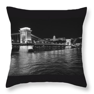 Szechenyi Chain Bridge Budapest Throw Pillow by Alan Toepfer