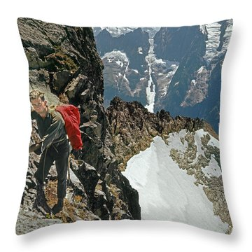 T-04403 Walt Buck Sellers On First Ascent Of Mt. Torment Throw Pillow