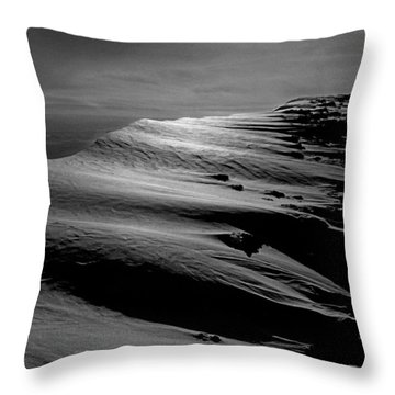 T-213312 Windblown Ice On Humphreys Peak Throw Pillow