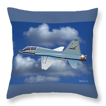 T-38 Nasa Trainer Throw Pillow