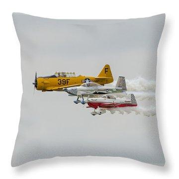 T-6 Texan   Rv-8   Dr-107 Throw Pillow by Susan  McMenamin