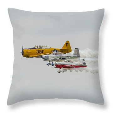 T-6 Texan   Rv-8   Dr-107 Throw Pillow