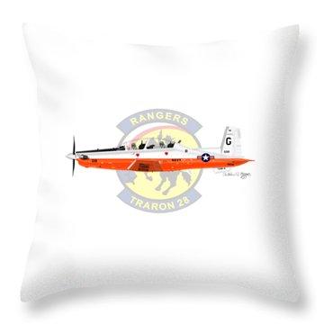 T-6b Texan II Vt28 Throw Pillow by Arthur Eggers