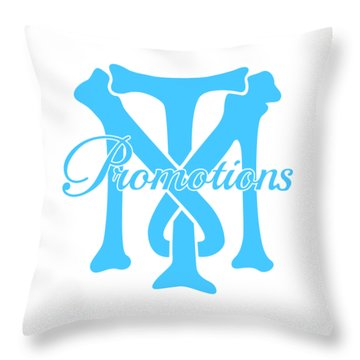 Throw Pillow featuring the drawing T And M Promotions Logo by Nicholas Grunas
