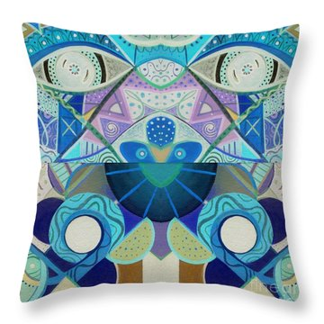 T J O D Tile Variation 3 Inverted Throw Pillow